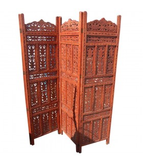 Folding screen of red wood teak - new model