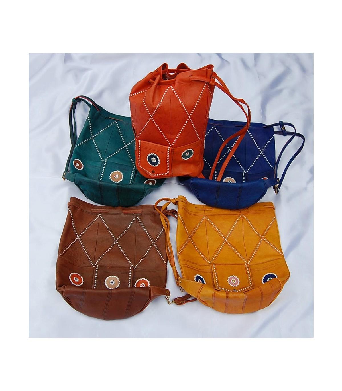 Artesano Congo Colores 2 Cuero Varios de Tamaños Publico Bolso qHZP7