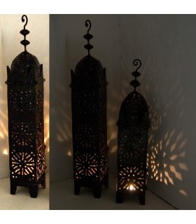 Wrought iron lamp elongated - permeated Arab - Andalusian - 2 sizes