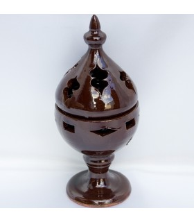 Mozarabic - grain - glazed ceramic incense censer