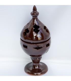 Mozarabica - grano - smaltato turibolo incenso ceramica