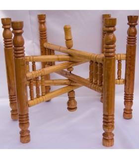 Bandeja de madeira pernas de chá - chá - 2 cores