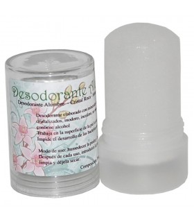 Desodorante Alumbre Cristal Roca - 120 gr- Minerales Naturales