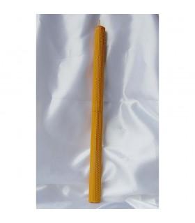 Fabriqués à la main de cire d'abeille vierge voile rond - 50 x 3,5 cm