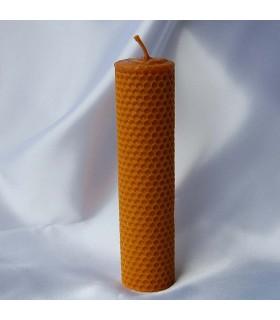 Kerze Wachs Jungfrau von Biene Handwerk rund - 17,5 x 4 cm