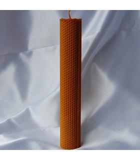 Vela cera de abelha virgem mão crafted redonda - 29 x 4.5 cm