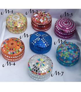Juego 5 Cajitas Brillantes-Varios Colores y Modelos -Muy Bonitas