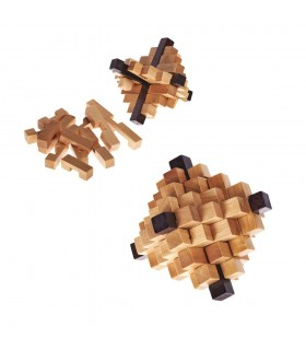Pineapple wooden puzzle - wit - puzzle - 10 cm