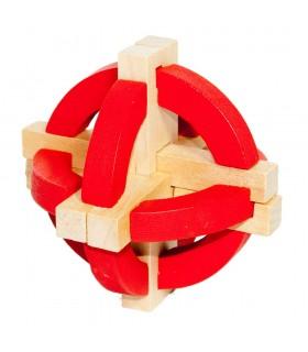 Puzzle wooden sphere Arcos - wit - puzzle - 10 cm