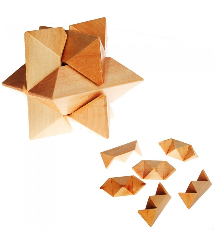 Star Wooden Puzzle - Skill Games - Puzzle - 10 cm