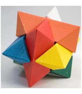 Puzzle Madera Estrella - Ingenio - Rompecabezas - 10 cm