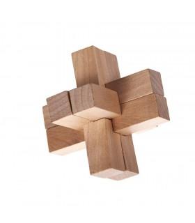 Hölzernes Kreuz - Verstand - Jigsaw - Puzzle - 8 x 8 cm