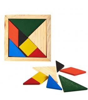 Tangram quadrato est - creare figure - Puzzle - wit
