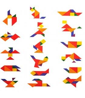 Tangram Quadrat erstellen Osten - Figuren - Puzzle - wit