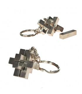Portachiavi arguzia croce - parti separate