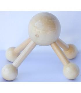 Polpo massaggiatore - legno - 10 x 8 cm