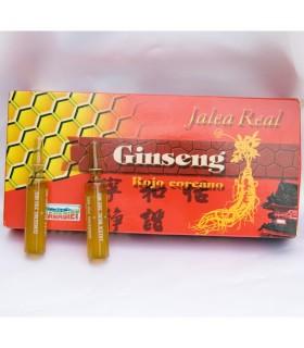 Jalea Real pura con Ginseng Rojo y Vitamna C - 20 Ampollas