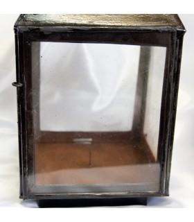 Laterne quadratisch Schmieden - Top-Qualität - Griff groß