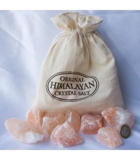 Sal do Himalaia - pedaços grandes - 1 kg -Formato saco algodão