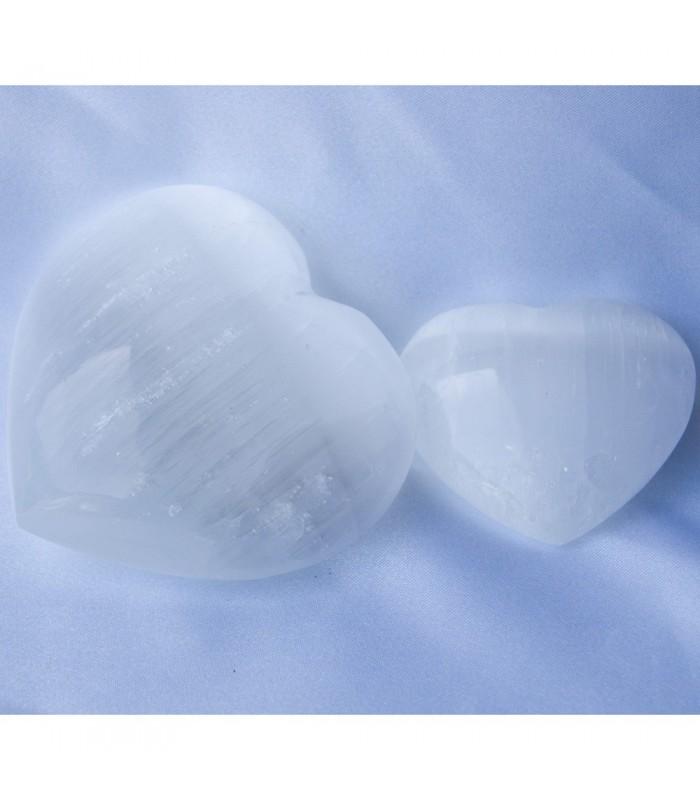 Corazón Selenita Pulida - 2 Tamaños - Espectacular