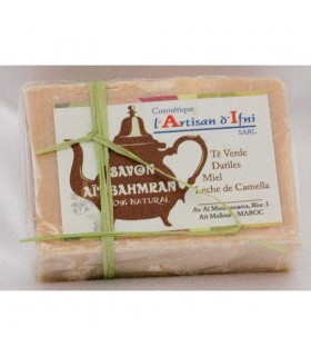 Bahmran Natural Soap - Green Tea - Dates - Honey - Milk Camella