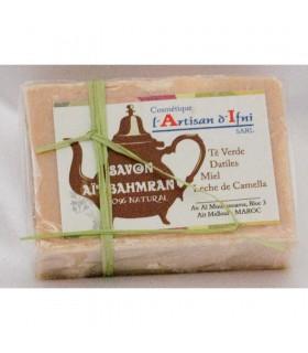 Природные мыла Bahmran - зеленый чай - даты - мед - молоко верблюда