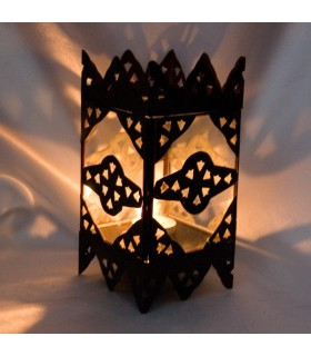 Candle holder with draught - side door glass Tower