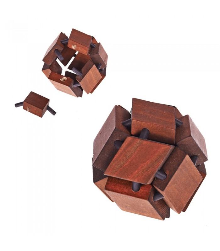Wooden Sphere Diamonds - Skill Games - Puzzle - 8 x 8 cm