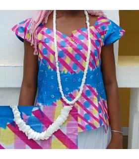 Afrikanische Shell Halskette - Design Etnico - Handwerker - Modell 1