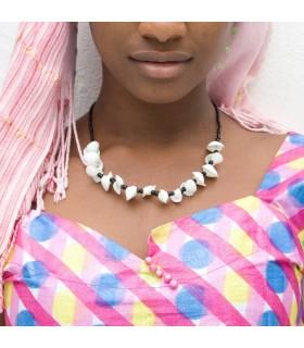Artisan de collier - conception Etnico - coquille africaine - modèle 3