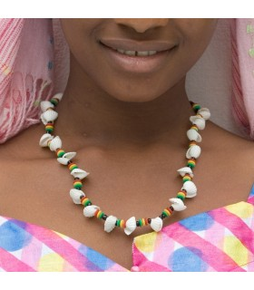 Collar Africano Conchas - Diseño Etnico - Artesano - Modelo 6