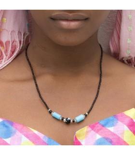 Collar Africano Conchas - Diseño Etnico - Artesano - Modelo 4