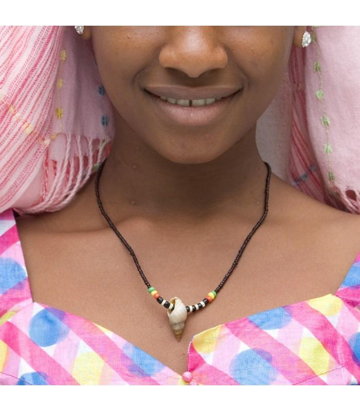 Collar Africano Conchas - Diseño Etnico - Artesano - Modelo 7