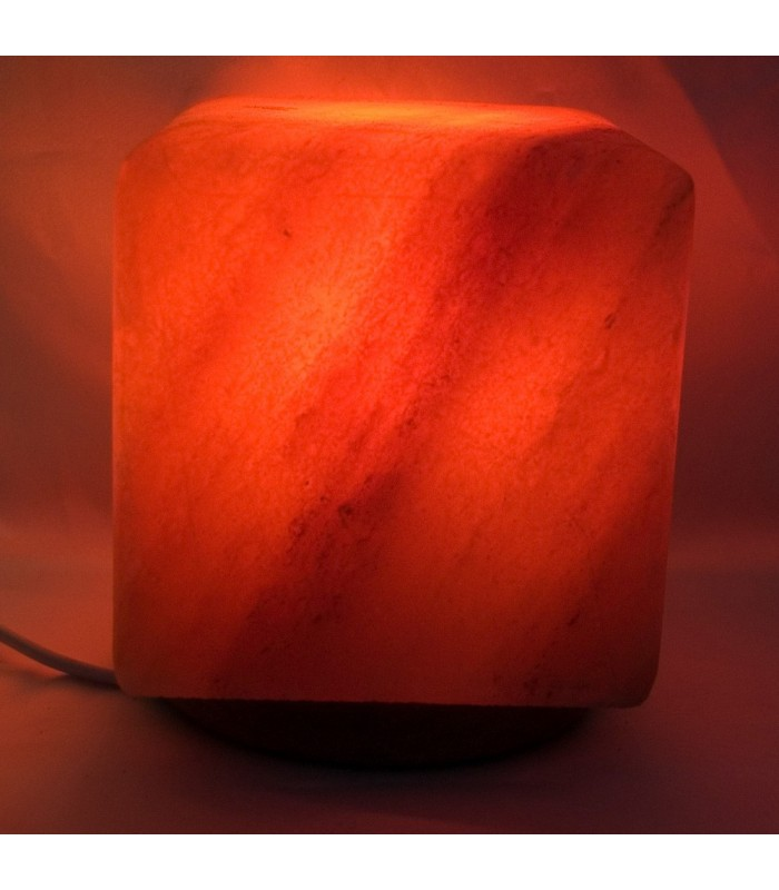 Polished Cube Salt Lamp - Natural - Himalaya - NEW