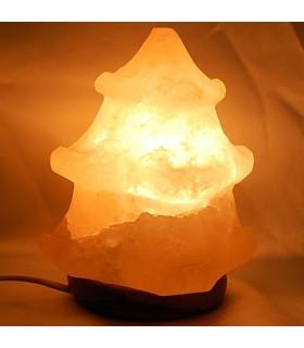 Лампа квадратных сосна - полированной соли - природные - Гималаи - Новинка