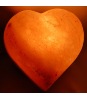 Heart of polished salt lamp - Natural - Himalaya - NOVELTY