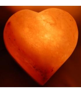 Сердце из полированной соляная лампа - природный - Гималаи - Новинка