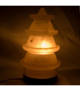 Lamp pine polished round-salt - Natural - Himalaya - NOVELTY