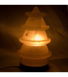 Lampe Kiefer poliert Runde-Salz - natürliche - Himalaya - Neuheit