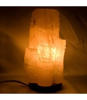 Lámpara Bambú de Sal Pulida - Natural - Himalaya - NOVEDAD