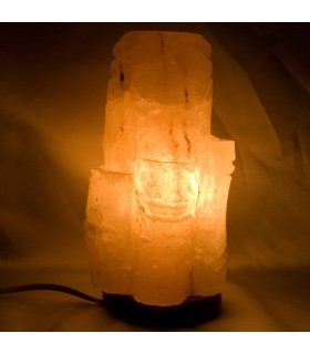 Lampe poliert Salz Bambus - Natur - Himalaya - Neuheit