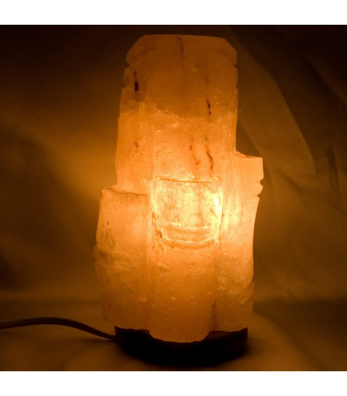 Polished Bambú Salt Lamp - Natural - Himalaya - NEW