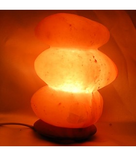 Lampe Steine poliert - Natur - Salz Himalaya-River - Neuheit