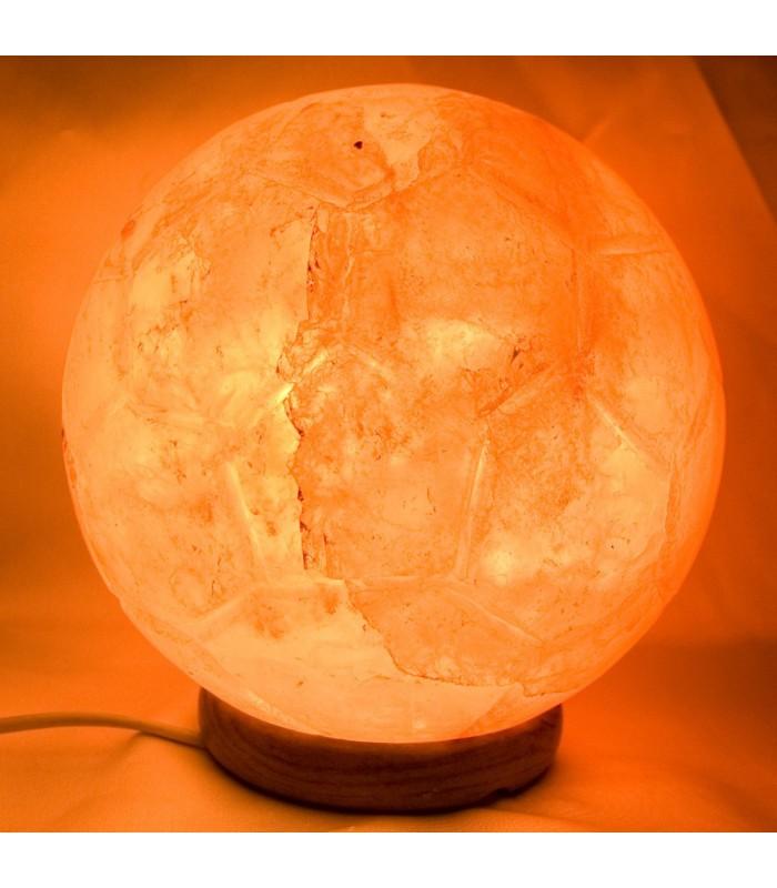 Lámpara Pelota Futbol de Sal Pulida - Natural - Himalaya