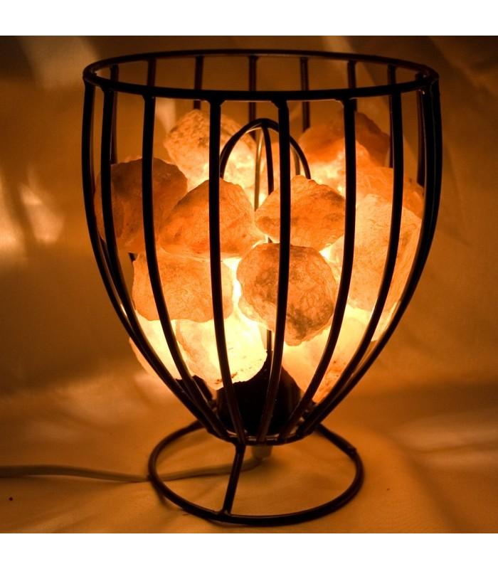 Iron Basket Salt Lamp Polished - Nature - Himalaya