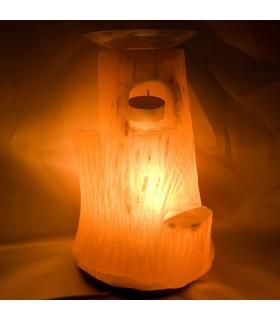 Лампа - горелка - полированной соли - натурального бамбука - Гималаи