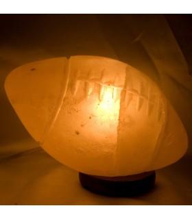 Lampe boule poli sel - naturel - Himalaya Rutbi