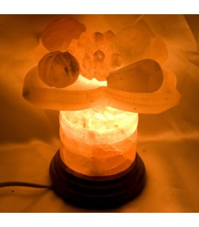 Fruit Dish Salt Lamp Polished - Nature - Himalaya