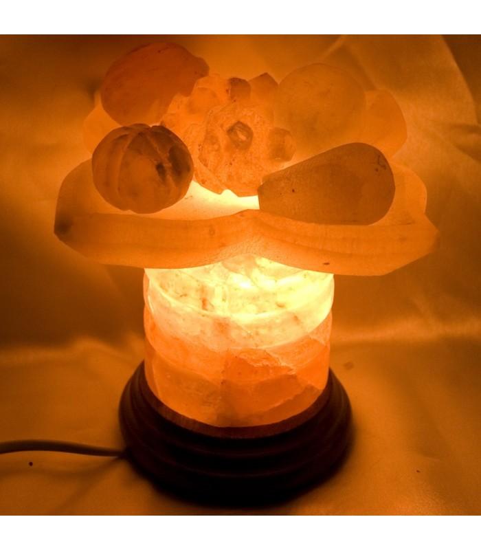 Fruit Dish Salt Lamp Polished - Nature - Himalaya