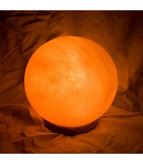Sphere of polished salt lamp - Natural - Himalaya - NOVELTY